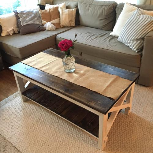 """cottage chic """"x"""" coffee table 