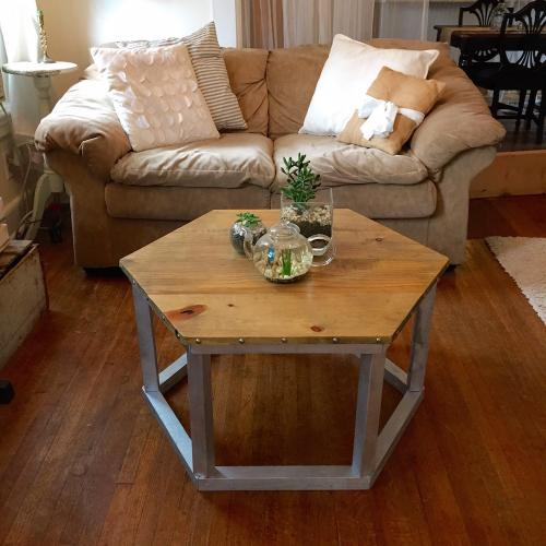 Hexagon Coffee Table Forget Them Not Home Decor