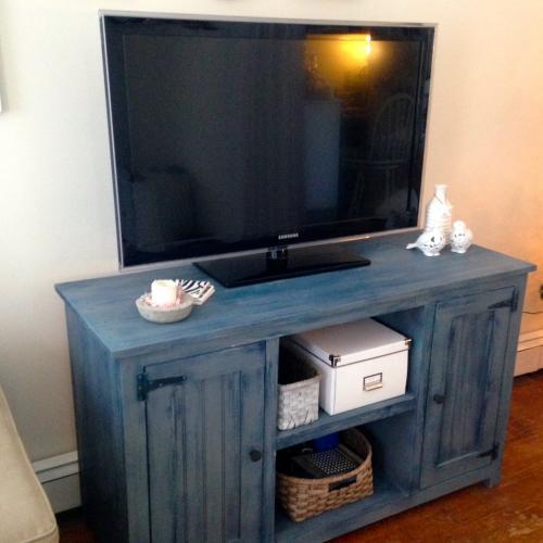 Blue Rustic Dresser